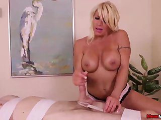 Big-busted milf dominates a spoilt man
