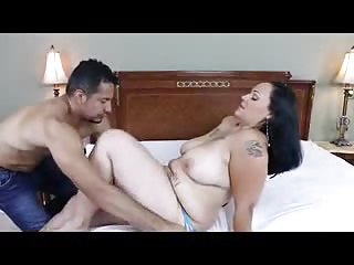 Chubby tattooed MILF takes quickening in pussy with an increment of ass
