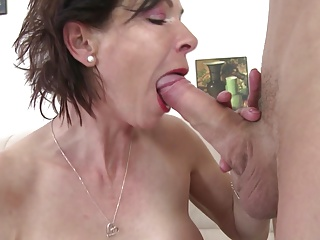 Skinny granny suck and fianc� young boy's cock