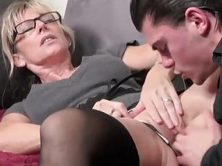 elegant MILF takes young cock #2