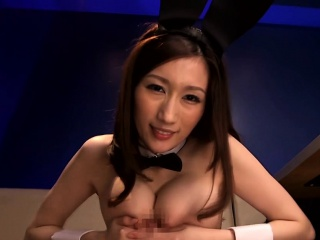 Well-endowed japanese milf titfucking pov