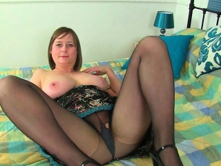 English milfs Janey and April massage their chubby special