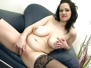 Posh mature mom with big tits increased by positive body