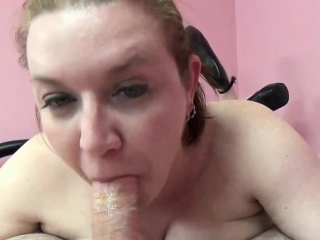 Busty housewife Amoral Skye is swallowing some dick
