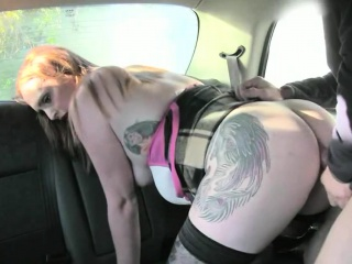 Huge boobies whore gets fucked overwrought chum around with annoy driver to off the brush fare
