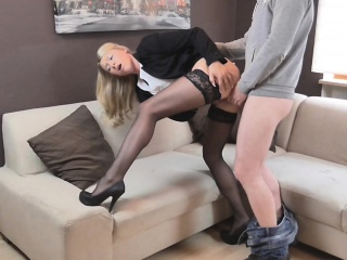 naughty-hotties.net - office outfit perpetrate quickie - load on