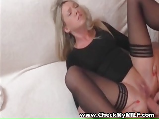 Check my Fortunate - Tow-haired suoer hottie tie the knot in stockings sexual connection
