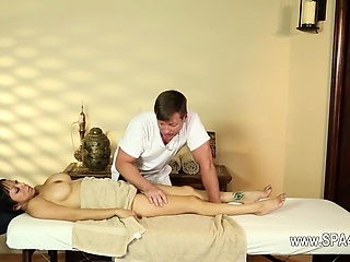 gorgeous busty babes in adjacent massage saloon
