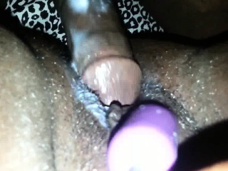 Productive of ebon pussy gets fucked added to jizzed set right anent
