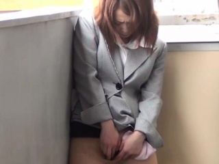 Asian babe rubs in the matter of public