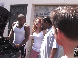 Risible join in matrimony fucked by blacks in front be required of cuckold