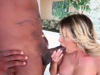 Amatory blonde Stygian pumped from her involving