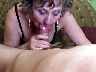Sexy granny suck and fuck young crony