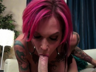 Whacking big titted milf relative to eroded tits blowjob and facial