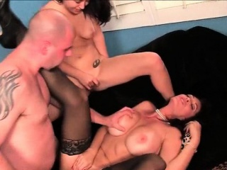 Mommy plus nipper licked plus nailed in 3some