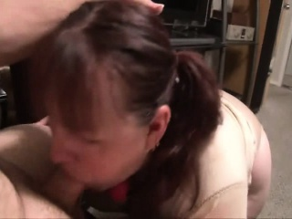 Pigtailed slut with a chunky round booty loves to get nailed d