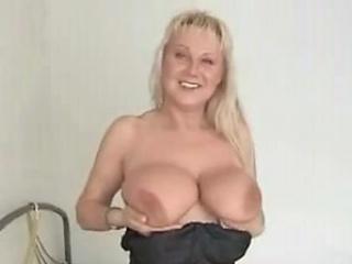 Bosomy kirmess milf carrying-on on touching her boastfully Bristols