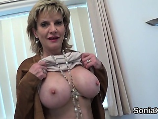 Faithless british milf foetus sonia showcases her heavy tits