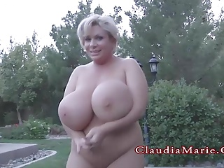 Claudia Marie Heavy And Has Her Huge Fake Bristols Destroyed
