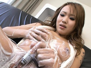 Favoured from asia gets pussy energized wits sempiternal vibrator