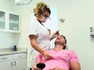 Take charge Dentist Corinna Marines Her Patient