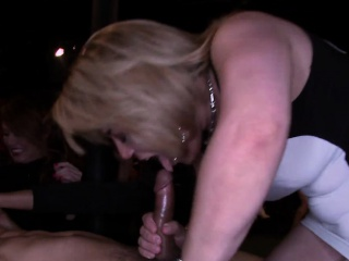 My boss getting titfucked with stripper cock