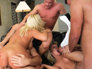 Magdalena increased by Tina seduce three hung boys thither roughly drill their holes