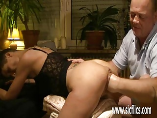 Fisting the wifes weighty greedy pussy