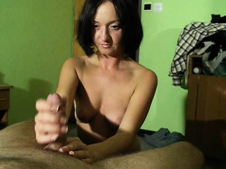 Adorable brunette wife shows off say no to fabulous handjob talen