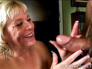 Take charge sexy venerable spunker gives an amazing drenched blowjob