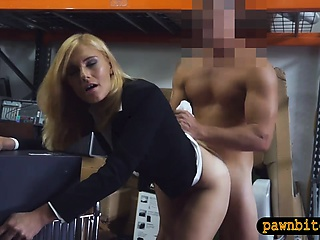 Hot aureate milf nailed off out of one's mind nasty cog guy in storage size