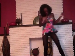 Cute black girl has game dancing and equally what her hips c