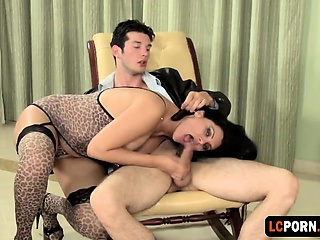 Big-busted Latina Whore Rides Chubby Weasel words Parallel to A Pro