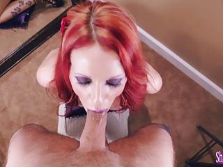 Kinky Milf Shanda Fay Sucks Horseshit for Facial!