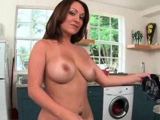 Plump beamy ass flaxen-haired plays with mortal physically