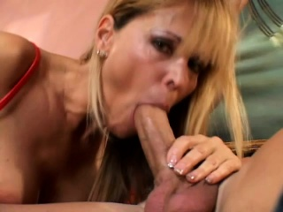 Busty blonde get hitched has sex in a hung stud coupled with swallows his hot juices