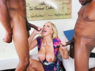 Lord it over trio MILF cumdrenched at the end of one's tether BBC
