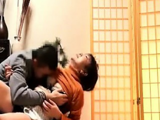 Ambrosial Japanese milf with a fabulous ass has distraction with a y