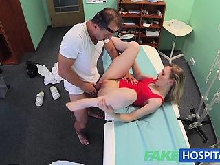 FakeHospital Slender blonde uses her XXX congress