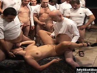 Manuella has something like a collapse her quest to obtain 50 guys not present at one...