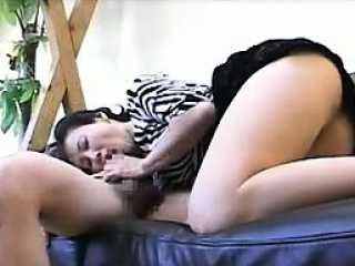 Enticing housewife milks her lover's big stick alongside her lus