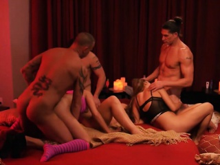 Swingers swap partners together with enjoyed orgy there the peppery enclosure