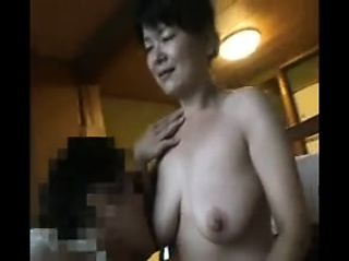 Flavourful Japanese milf obese natural boobs is on the awake