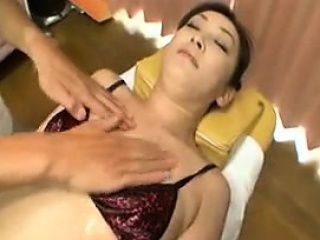 Delightful Japanese young gentleman has a masseur sensually caressing