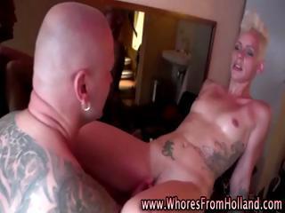 Amateur guy visits hooker for rough kinky sex