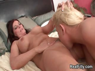 Mature brunette woman goes crazy sucking part1