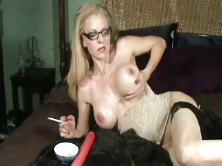 Candy Smokes and Fingers Her Pussy