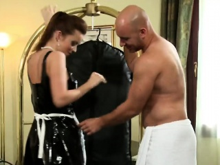 French shady maid shows uncultured moves with big cock visitor
