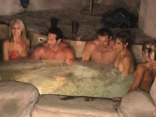 Hot wife experiments during swinger orgy