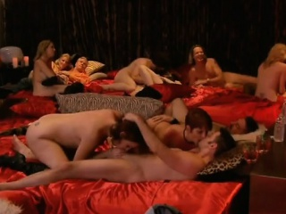 Grotesque swinger orgy with respect to horny couples
